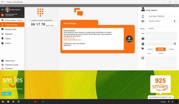 Envoi d'un message initial - version desktop