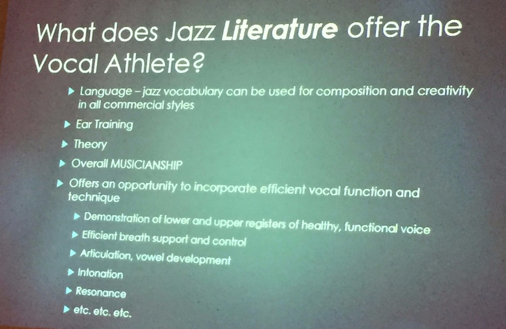 What does Jazz Literature offer the Vocal Athlete?