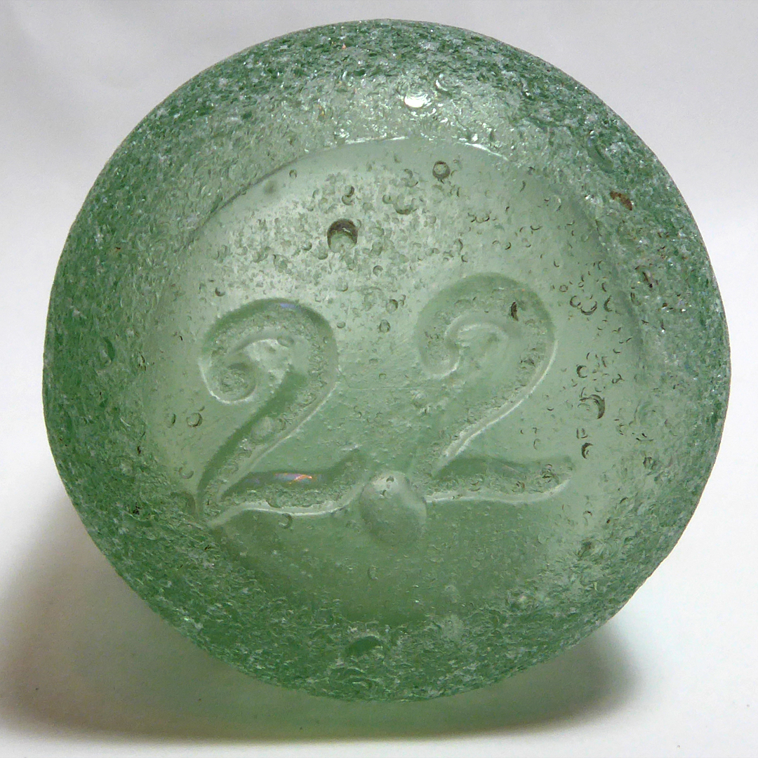 Green bottle bottom - Victorian