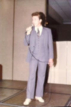 Singer David L Cook performing for Florida Governor Bob Graham in 1987