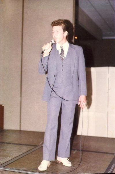 Singer David L Cook performing for Florida Governor Bob Graham in 1987