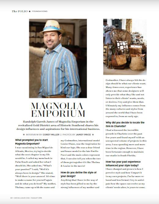 Magnolia Emporium featured in QC Exclusive Magazine