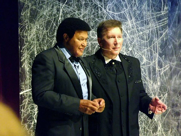 Chubby Checker and David L Cook at the AMG Heritage Awards