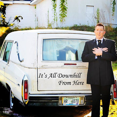 David L Cook with Hearse