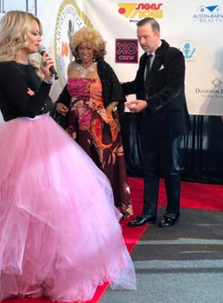 Randolph James escorts friend and music legend Dee Dee Sharp on the Red Carpet for the AMG Heritage Awards