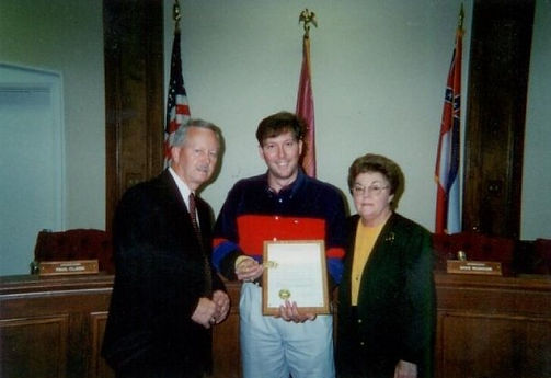 David L Cook and Mayor