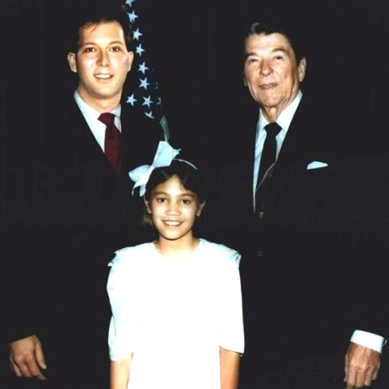David L. Cook and President Ronald Regan at The White House