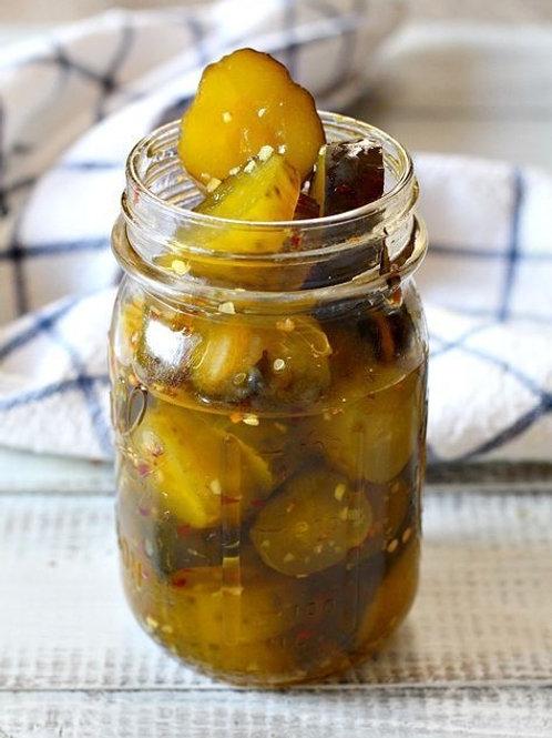 Spicy & Sweet Pickles  16oz