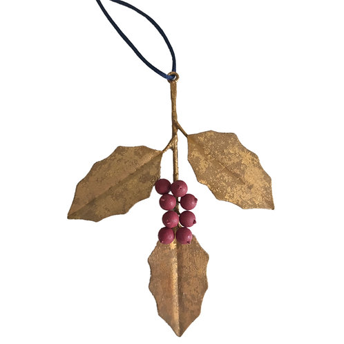 Holly Hanging Ornament