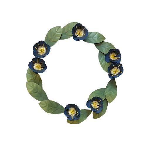 Floral Wreath in Blue
