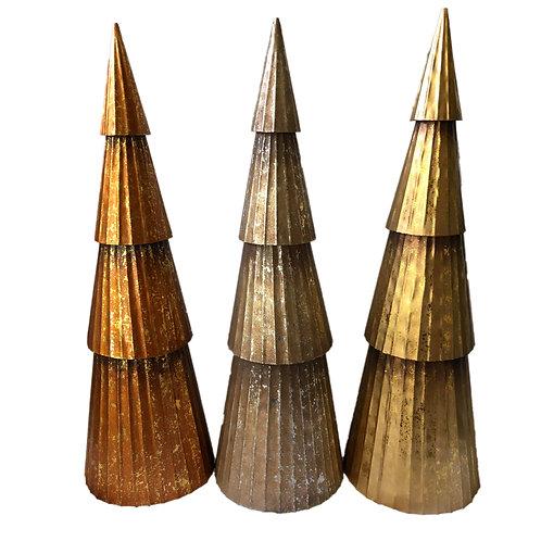 Large Tin Christmas Tree Trio