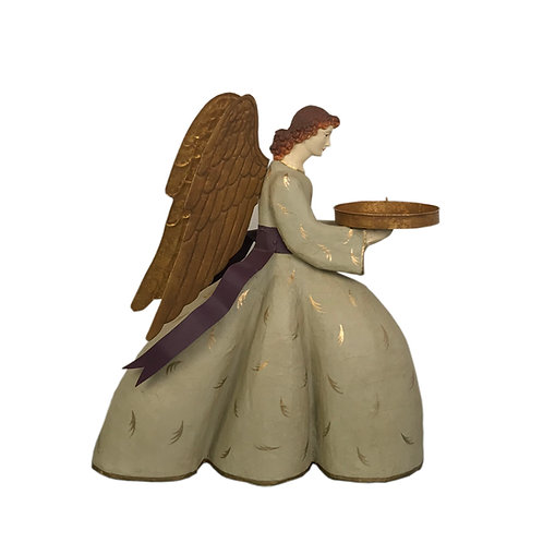 Heirloom Angel Virginia with Plum Ribbon