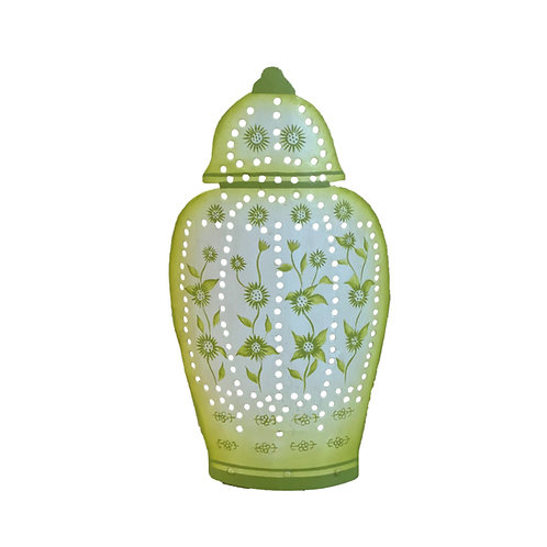 Ginger Jar Tea Light Holder in Lime Green
