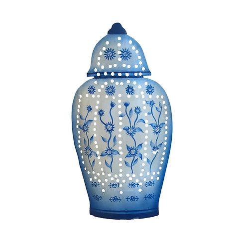 Ginger Jar Tea Light Holder in Blue