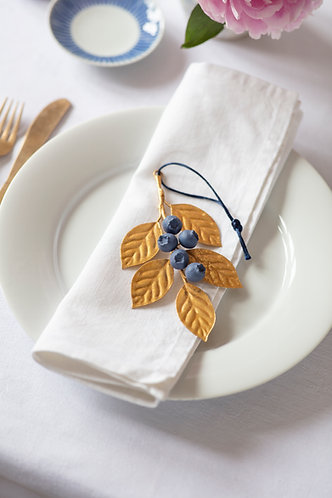Set of Blueberry Hanging Ornaments