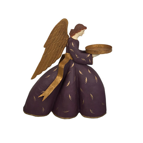 Heirloom Angel Virginia with Plum Dress