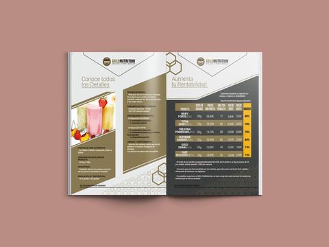 Impresión catálogo Gold Nutrition