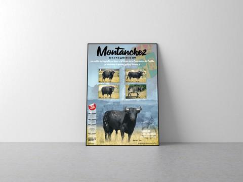 Diseño e impresión cartel fiestas de Montánchez