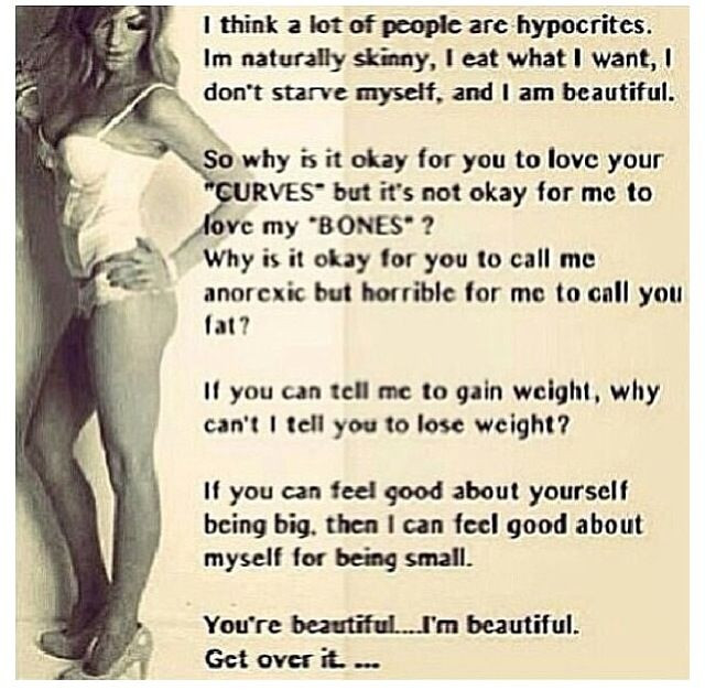 Skinny Girl's are People Too: Love the skin you are in.