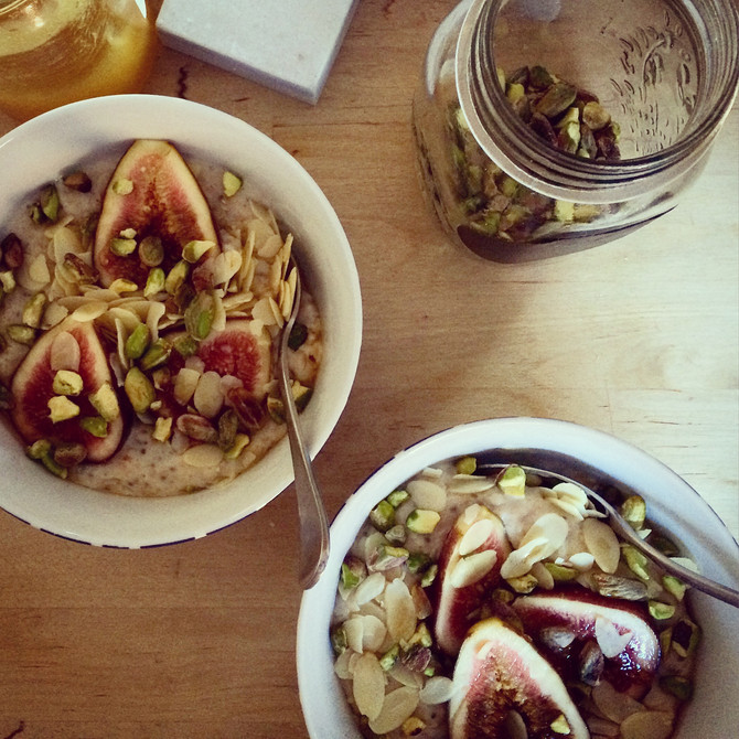 Fig, Tahini and Honey Porridge