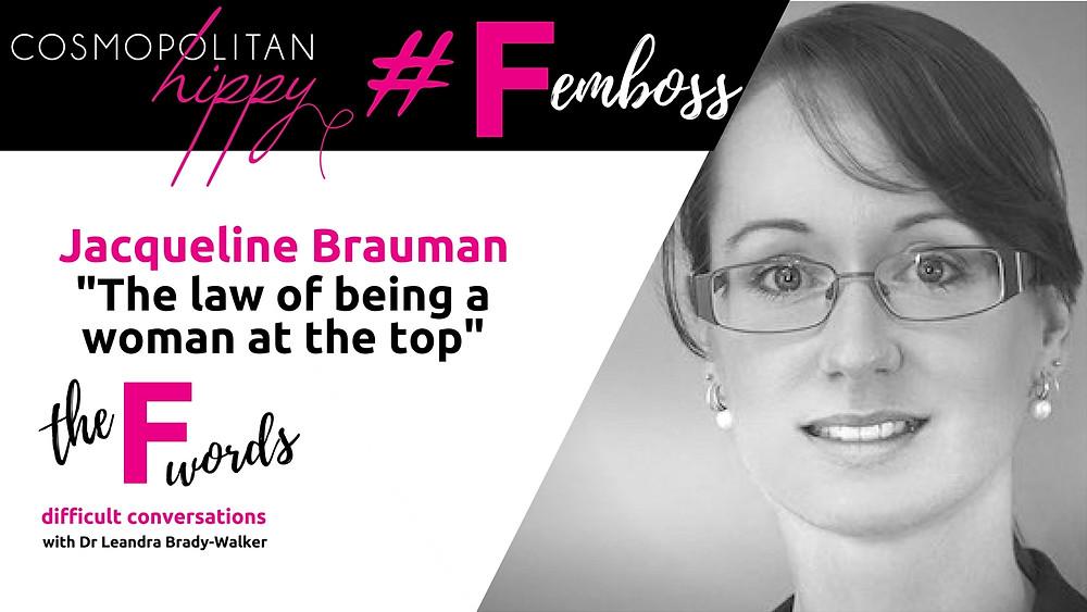 #femboss Jacqueline Brauman the F words podcast Cosmopolitan Hippy