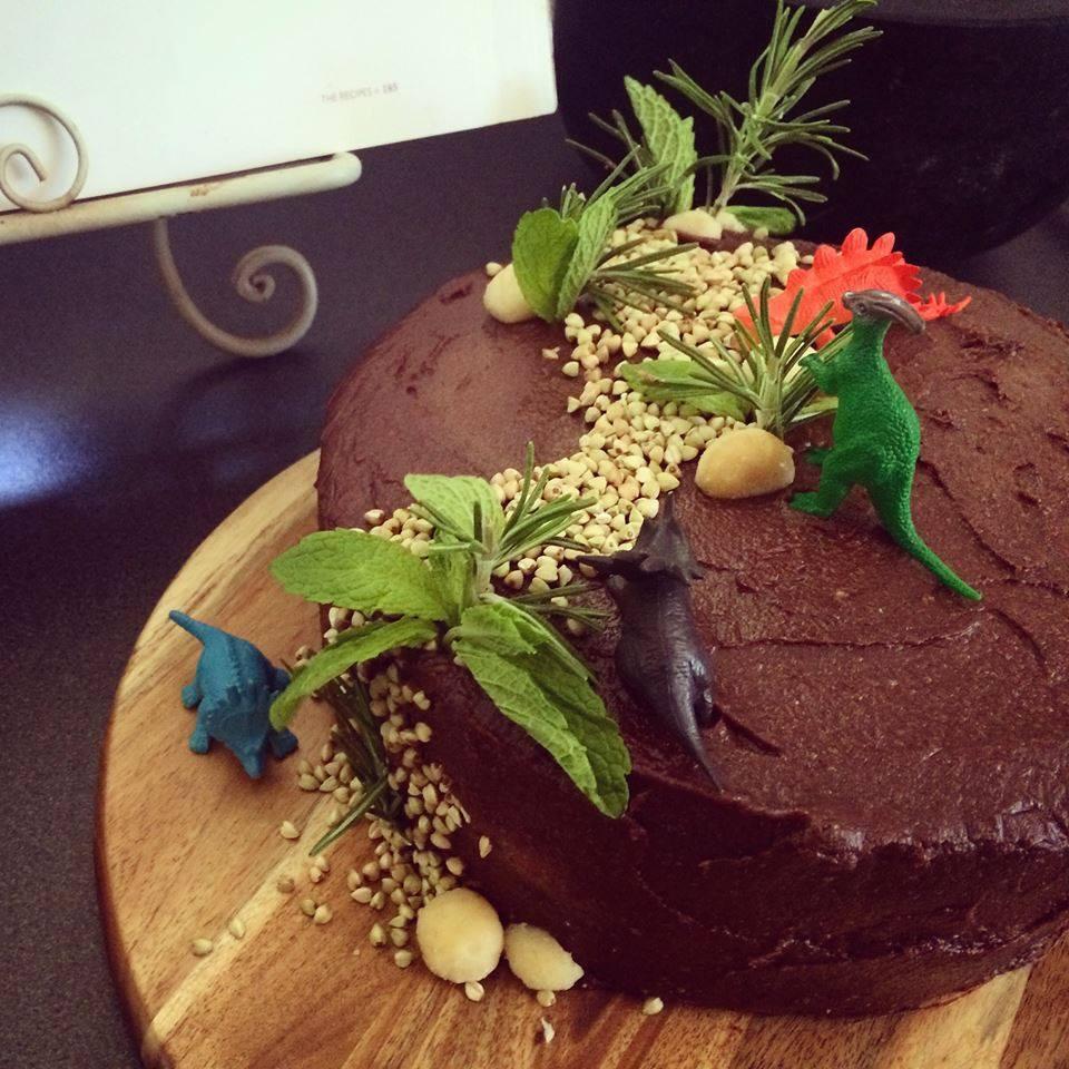Paleo Double Layer Chocolate Birthday Cake