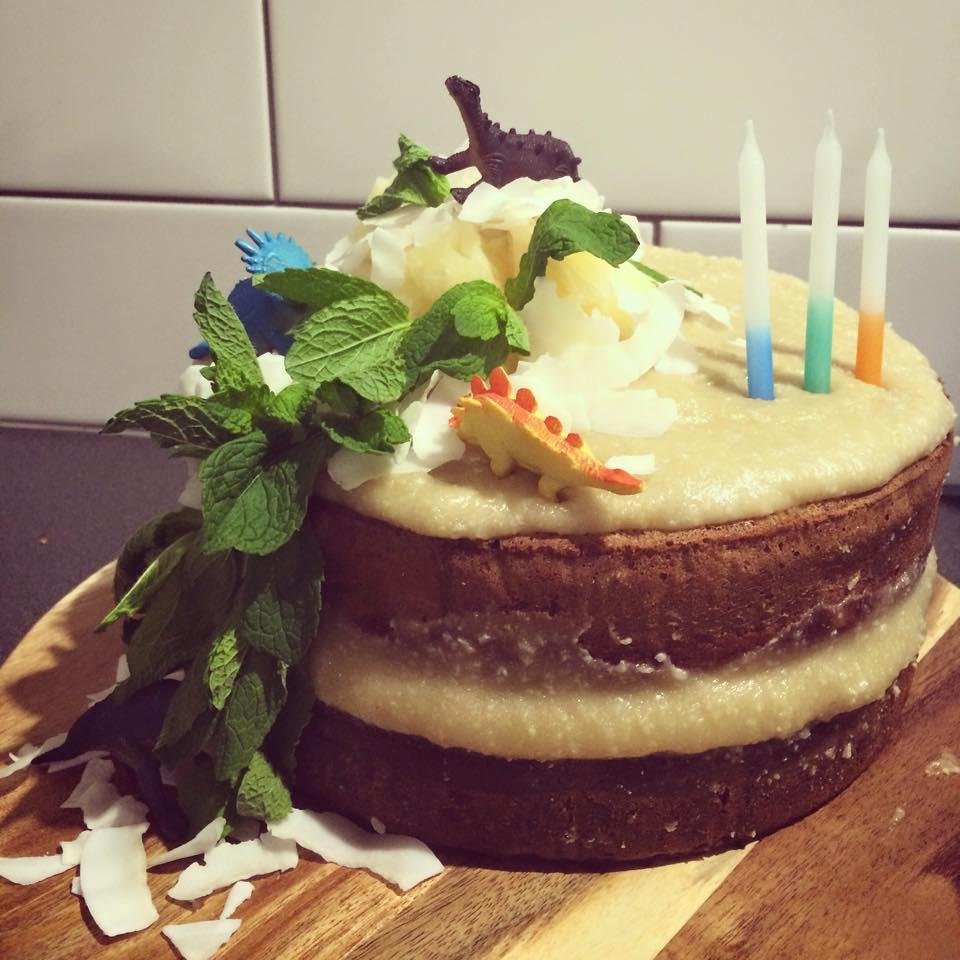 Paleo Double Layer Birthday Cake