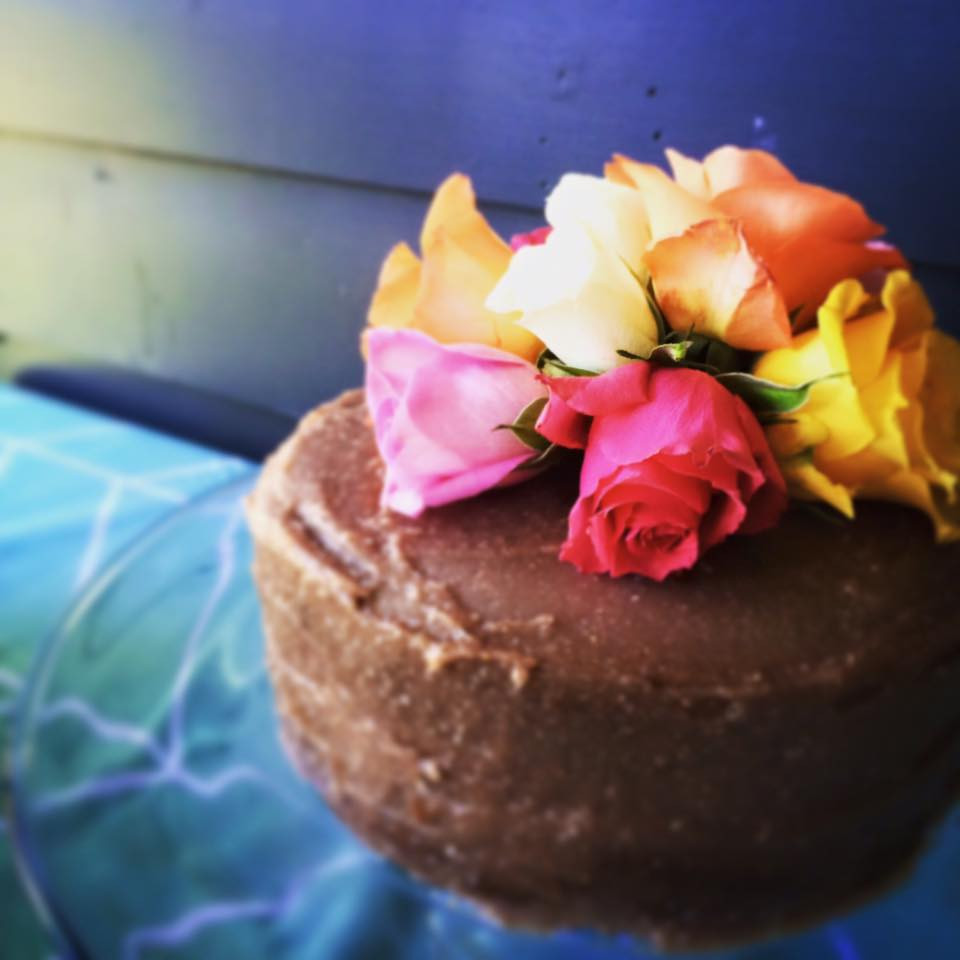 Paleo Double Layer Naked Cake