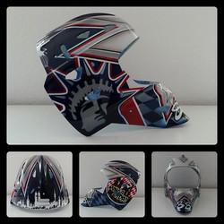 Airbrush auf Goalie Maske__Minga Oida__#DieAirbrusherei_Airbrush Bob Co