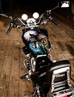 Yamaha Virago Motorrad-Tank1