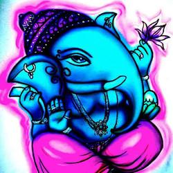 Airbrush auf T-Shirt_Ganesha_#DieAirbrusherei_Airbrush Bob Co