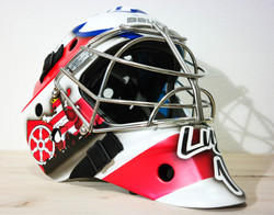 Airbrush auf Goalie Maske Matt Klarl