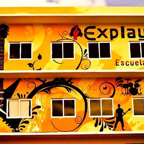 Airbrush auf Musikschile Fassade_Explayarte_#DieAirbrusherei_Airbrush Bob Co