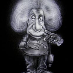 Airbrush auf T-Shirt_Einfarbig Albert Einstein_#DieAirbrusherei_Airbrush Bob Co