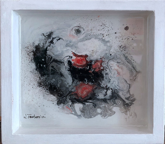 Kunstharz Objekt/ resin art/ dipinto in resina