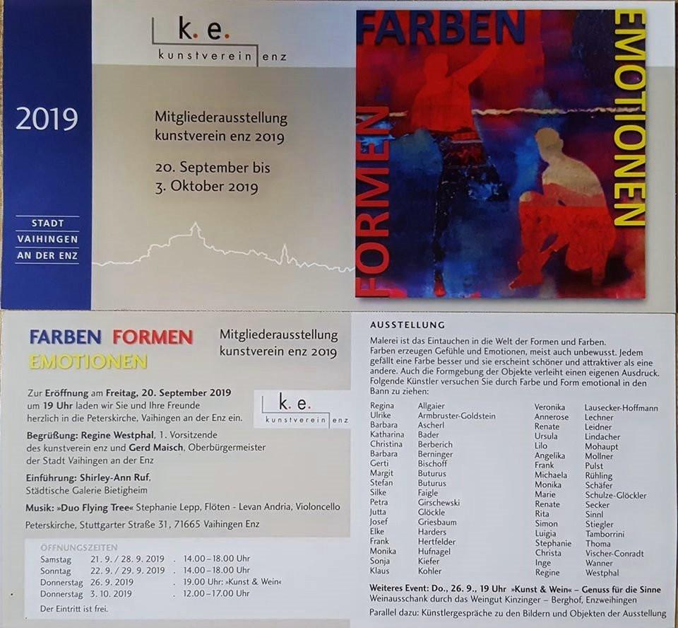 """Ausstellung """" Farben Formen Emotionen"""" 2019"""