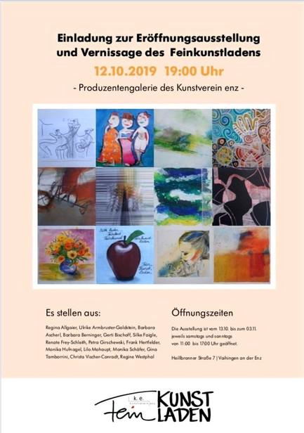 """Ausstellung zur Eröffnung der Produzentengalerie """"Feinkunstladen"""