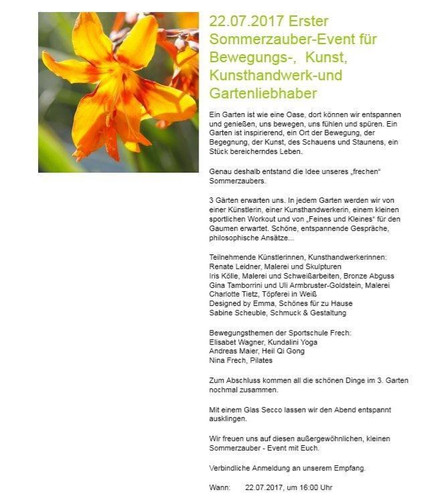Sommerzauber - Event