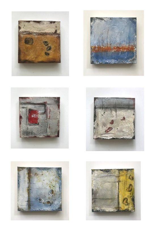 6er Reihe - Asche mit Pigmente / Serie con cenere e pigmenti / pigments and ash series