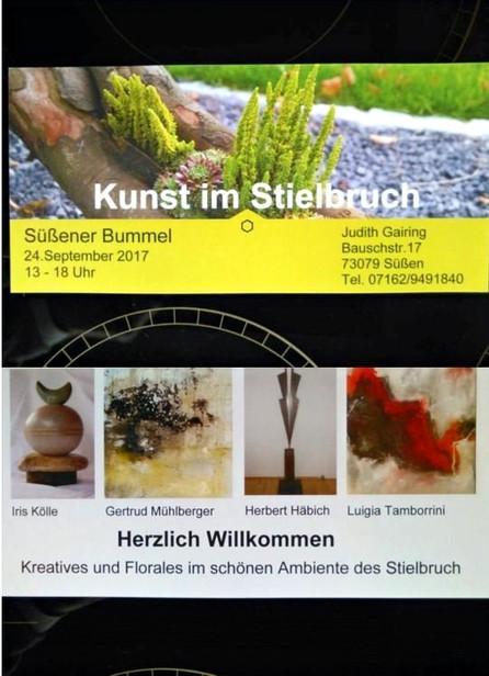 """Ausstellung """"Kunst im Stielbruch"""" 2017"""