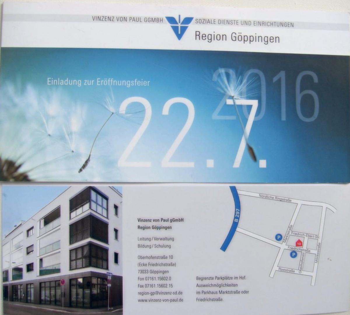 """Ausstellung """"Vinzenz von Paul GmbH"""" 2016"""
