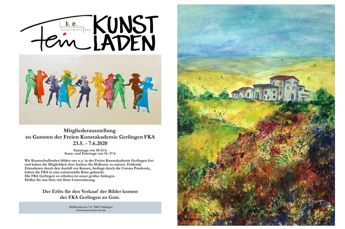 Mitgliederausstellung zu Gunsten der Freien Kunstakademie Gerlingen FKA