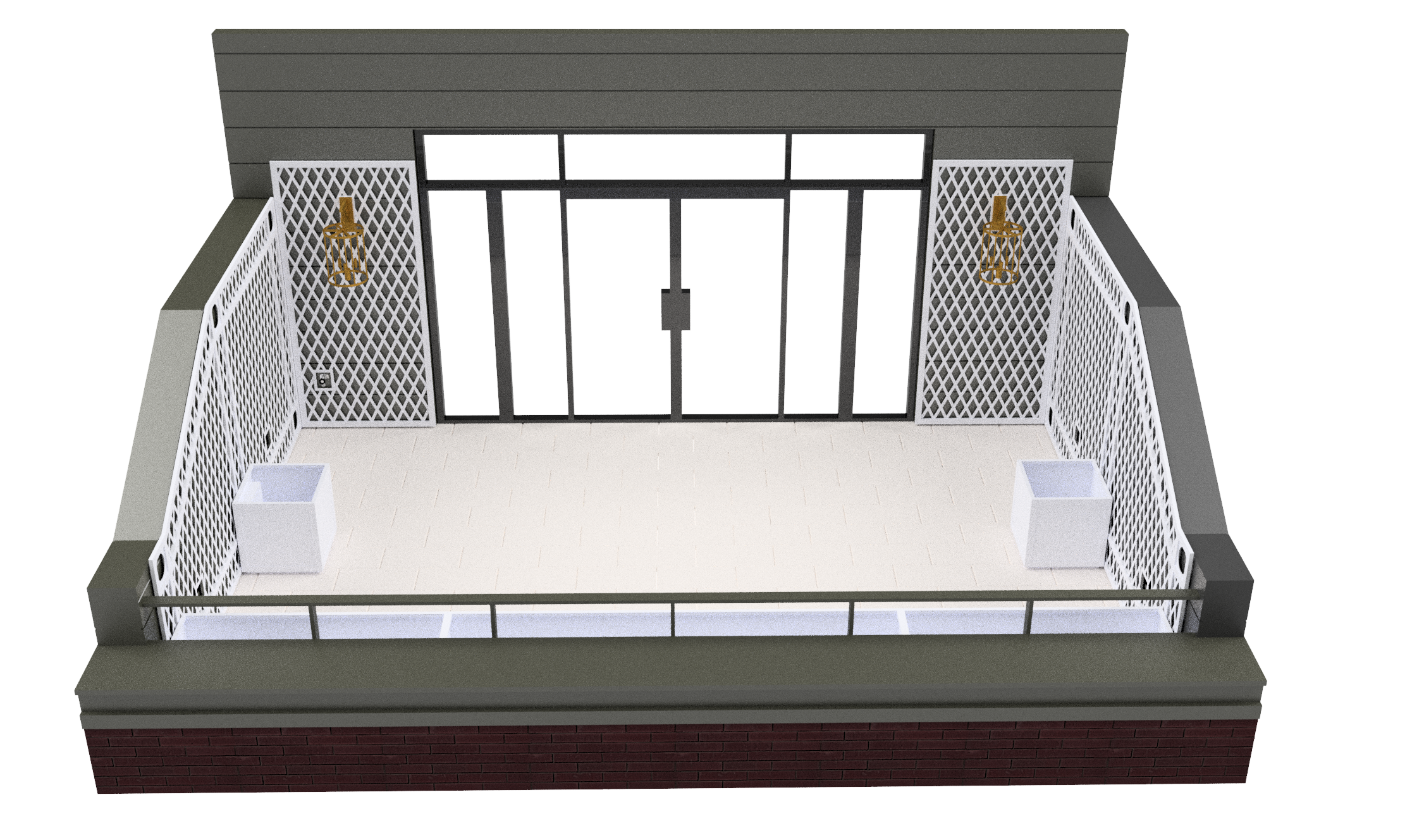 ASSEMBLY - SOUTH FRONT FLOORPLAN - W-003