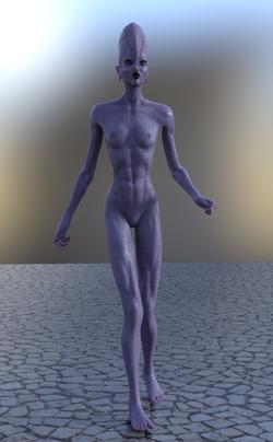 Grey Female Alien