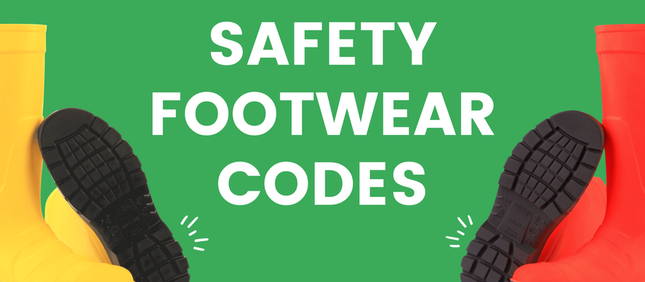 ¿Qué significan los códigos de calzado de seguridad?