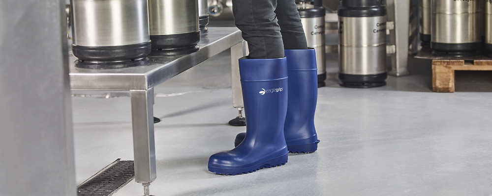 Blue Eaglegrip boot in the context of the beer producing industry