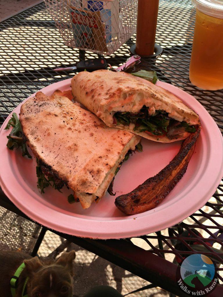 grilled chicken flatbread sandwich