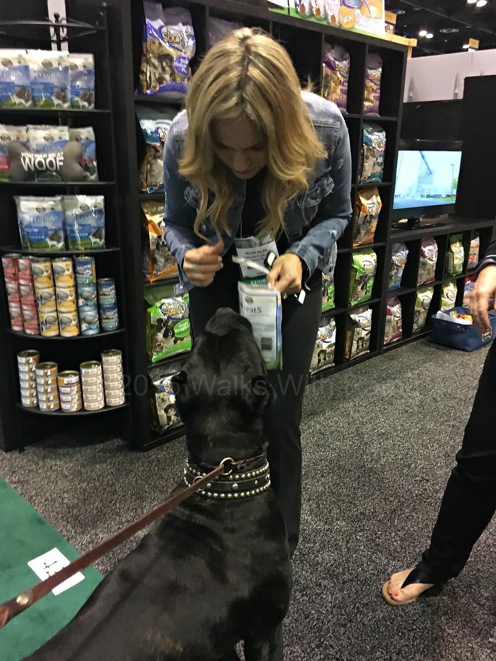 dog getting dog treats
