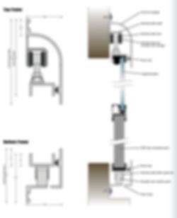 Bulkhead Sliding Door Cross Section