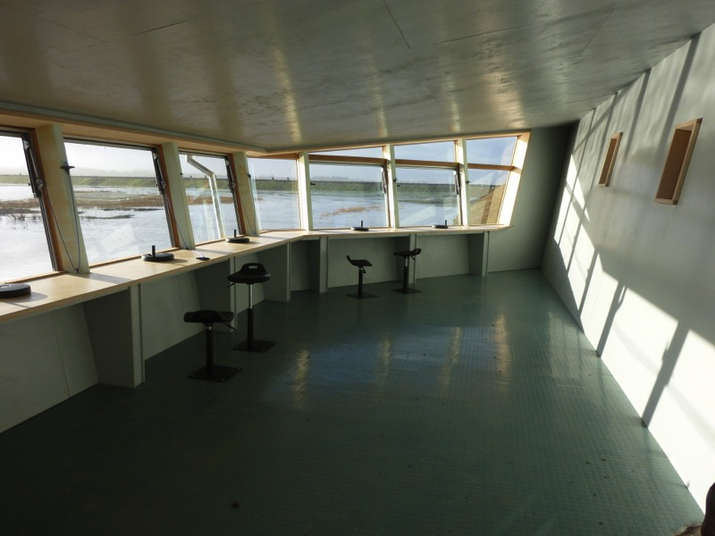 RSPB Bird Hide Opening Windows